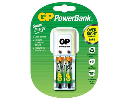 图片 GP Batteries PowerBank Package - AAA 2 pcs.