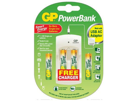 图片 GP Batteries Powerbank Package - AA 4 pcs.