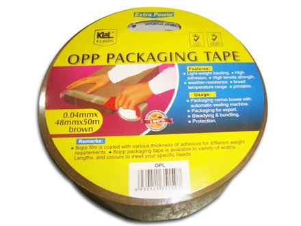 图片 KL & LING Packaging Tape 48MM X 50M Brown, KIOPLBRN