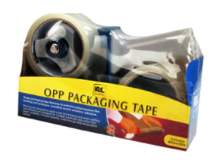 图片 KL & LING Int Inc Packaging Tape with Dispenser KI614K/2CBCLR