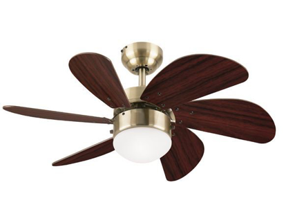 """Picture of Westinghouse Turbo Swirl 30"""" Antique Brass Ceiling Fan, WH6T30ABD"""