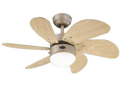 """Picture of Westinghouse Turbo Swirl 30"""" Brushed Aluminum Ceiling Fan, WH6T30BAD"""