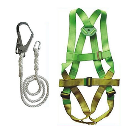 图片 Adela H-5038 Full Body Harness Set with Lanyard Big Hook (Green/Yellow)