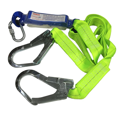 Picture of Adela Lanyard with Absorber Double Webbing Lanyard Double Hook - WF32