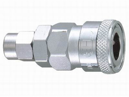 图片 THB 5x8 Steel Quick Coupler Body - PU Hose End