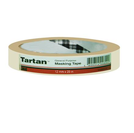 图片 3M Tartan General Purpose Masking Tape - 12mm x 20m