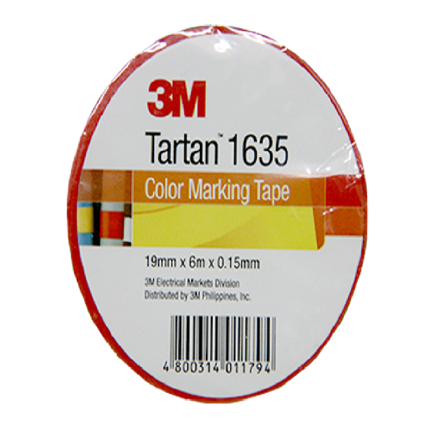圖片 3M Tartan Electrical Tape, Red