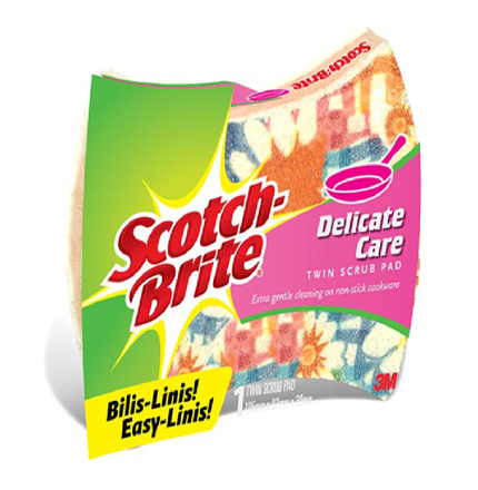 图片 3M Scotch Brite Scrub Pad Twin Delicate Care