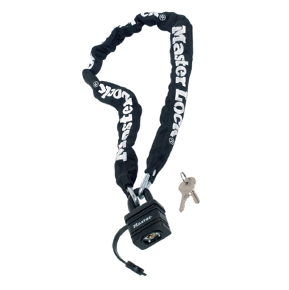 Picture of Master Lock Motorcycle Chain Padlock No. 8390DPRO Black (6mm x 90cm length)