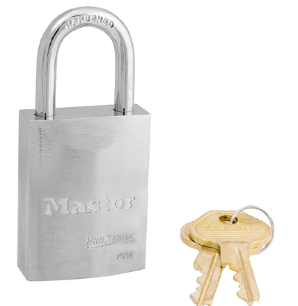 圖片 Master Lock 1-9/16in (40mm) Wide ProSeries® Solid Steel Rekeyable Pin Tumbler Padlock, Keyed Alike
