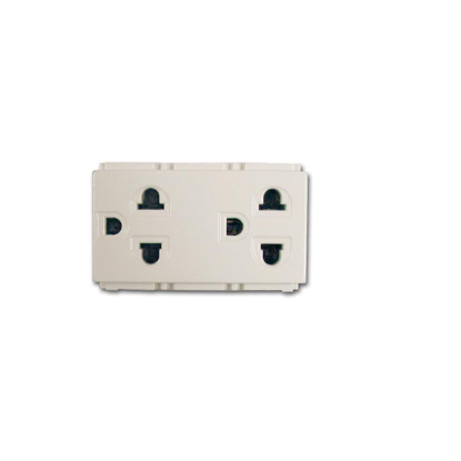 Picture of Royu Duplex Universal Outlet with Ground (Classic) RCO4