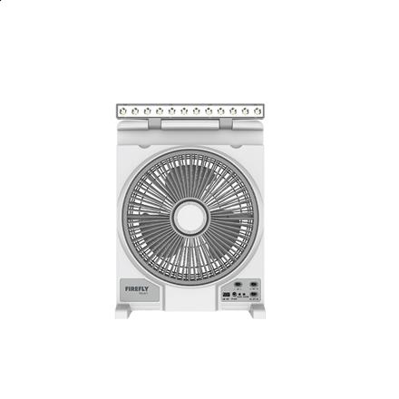 """图片 Firefly 12"""" Oscillating 3-Speed Fan with 12 LED Desk Lamp &USB Mobile Phone Charger FEL617"""