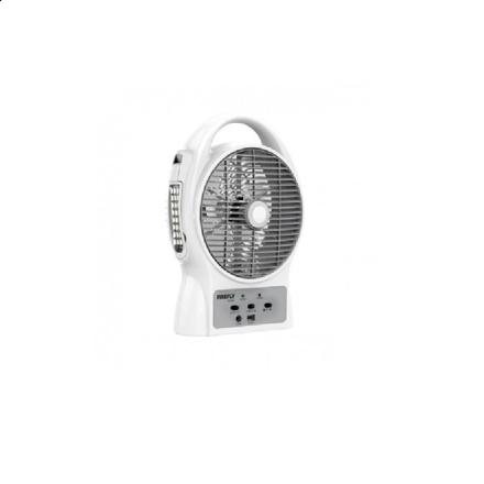 """图片 Firefly 8"""" Oscillating 3-SpeedFan with USB Mobile PhoneCharger & 24 LED Desk Lamp FEL624"""
