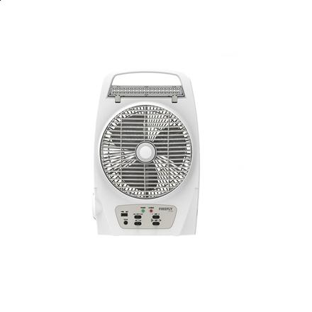 """图片 Firefly 8"""" Oscillating 2-Speed Fan with 18 LED Desk Lamp,Torch Light & USB Mobile Phone Charger FEL625"""