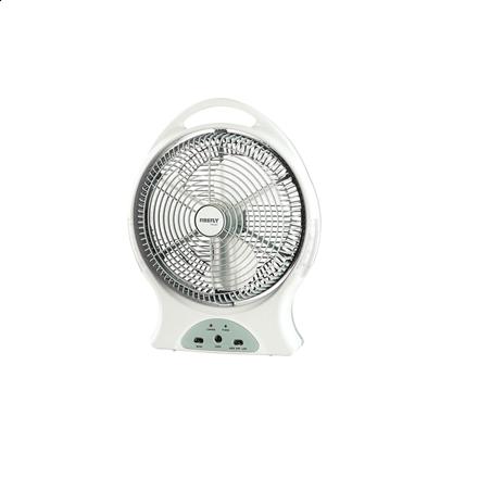"""图片 Firefly 12"""" Oscillating 2-Speed Fan with 8 LED Night Light &USB Mobile Phone Charger FEL627"""