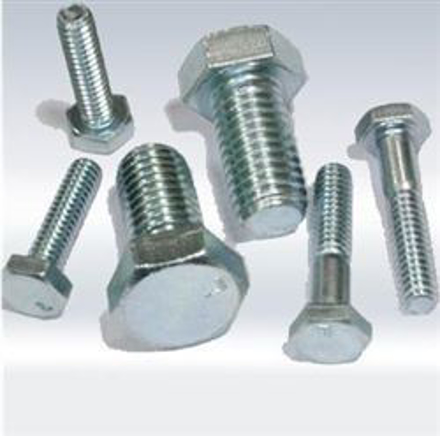 图片 Galvanized Hexagonal Cap Screw, Full Thread Hex Tap Bolts