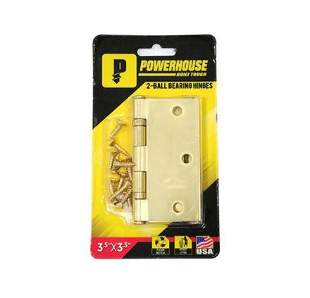 图片 Powerhouse 2- Ball Bearing Hinges  Brass (US3)
