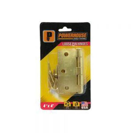 图片 Powerhouse Loose Pin Hinges Brass