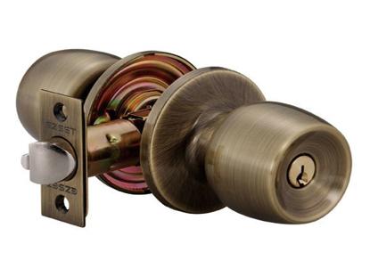 Picture of Ezset Devon Gr.3 Antique Brass Cylindrical Entrance Knobset EZ100CDNUS5