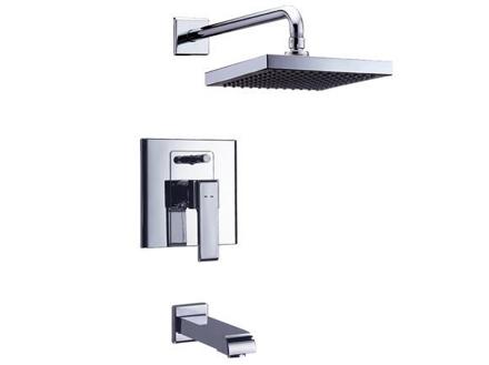 圖片 Delta In-Wall Tub & Shower, W/quadrate Showerhead 26075