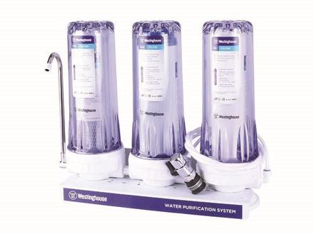 圖片 Westinghouse 3 Stage Water Filter, PP + GAC FILTER + CTO, WHWWPS105A3