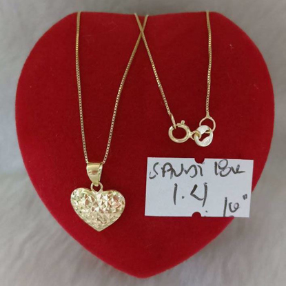 Picture of 18K - Saudi Gold Jewelry, Necklace w/. Pendant 18K 1.4gram