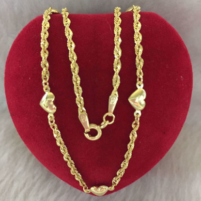 Picture of 18K - Saudi Gold Jewelry, Necklace w/. Pendant 18K 2.8gram