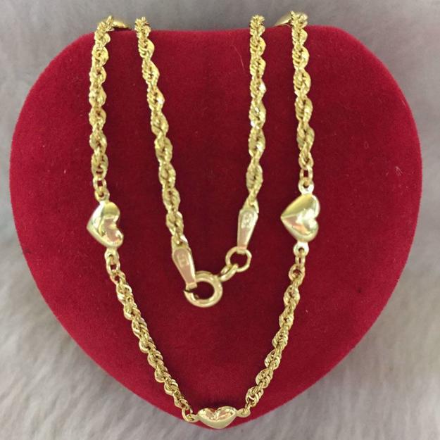 圖片 18K - Saudi Gold Jewelry, Necklace w/. Pendant 18K 2.8gram