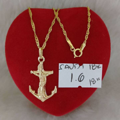Picture of 18K - Saudi Gold Jewelry, Necklace w/. Pendant 18K - 1.6g