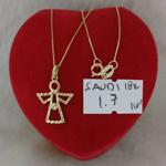 圖片 18K - Saudi Gold Jewelry, Necklace w/. Pendant 18K - 1.7g