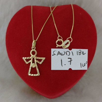 Picture of 18K - Saudi Gold Jewelry, Necklace w/. Pendant 18K - 1.7g