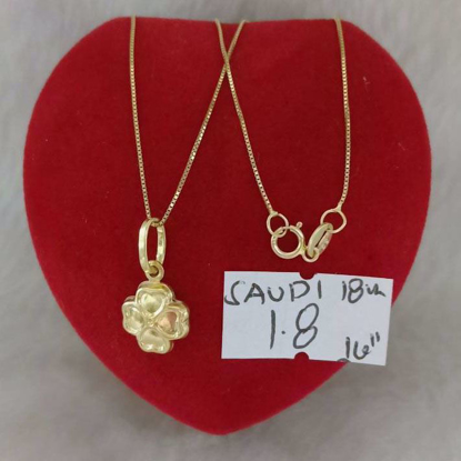 Picture of 18K - Saudi Gold Jewelry, Necklace w/. Pendant 18K - 1.8g