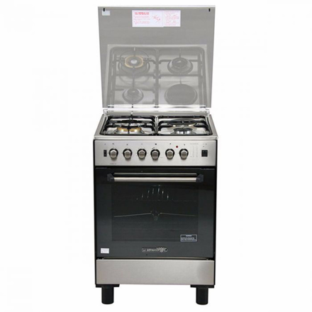 圖片 La Germania FS6031 21XTR 60cm range, 3 Gas + 1 Electric Hotplate | Gas Thermostat Oven with Safety Device │ Electric Grill with Rotisserie