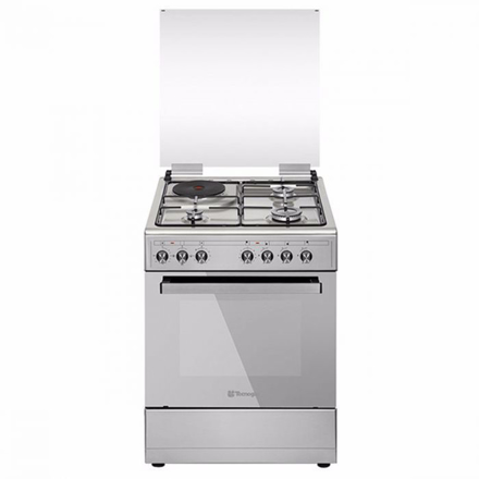 图片 Tecnogas TFG6031DRX 60CM Range, 3 Gas Burners + 1 Electric Plate | Gas Oven + Electric Grill | Rotisserie