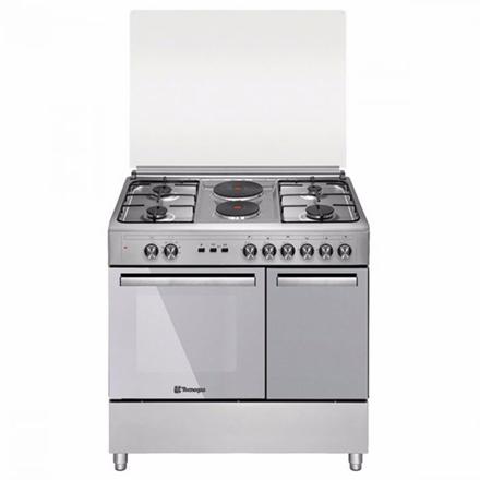 图片 Tecnogas TFG9142CRX 90cm range, 4 Gas Burners + 2 Fast Heating Electric Plates │ Gas Oven + Gas Grill │ Rotisserie