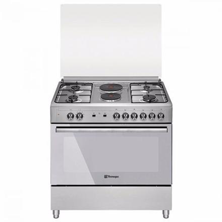 图片 Tecnogas TFG9242CRVSS 90cm Range, 4 Gas Burners + 2 Fast Heating Electric Plates │ Gas Oven + Gas Grill │ Rotisserie