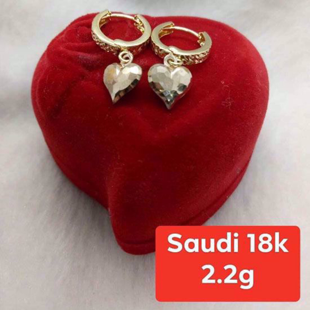 圖片 18K - Saudi Gold Jewelry, Earrings - 2.2g