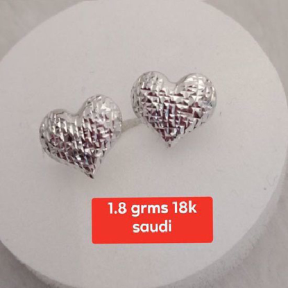 Picture of Saudi White Gold Earrings 18K - 1.8g