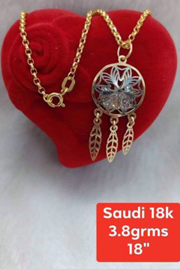 Picture of 18K - Saudi Gold Jewelry, Necklace w/. Pendant 18K - 3.8g