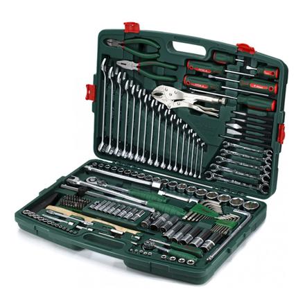 """图片 Hans Tools TK-158V Heavy Duty 158 pcs 1/4"""" & 1/2"""" Drive Socket Wrench with Assorted Tools Kit (Silver)"""