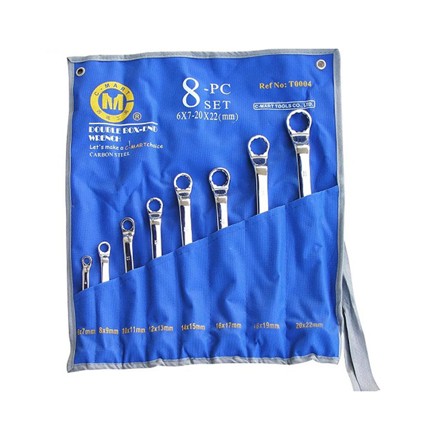图片 8-Piece Double Box-end Wrench Set T0004