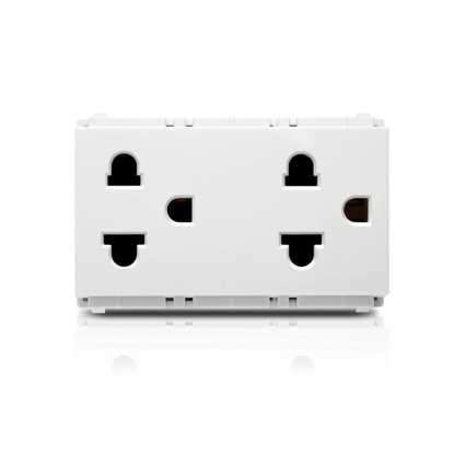 Picture of Double Walled Socket  Origami Style Duplex