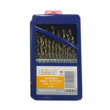 圖片 Cobalt Drill Bits 29 Pieces HSSCO-29S