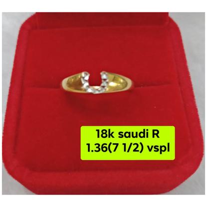 Picture of 18K - Saudi Gold Ring- SR1.36G(7.5)