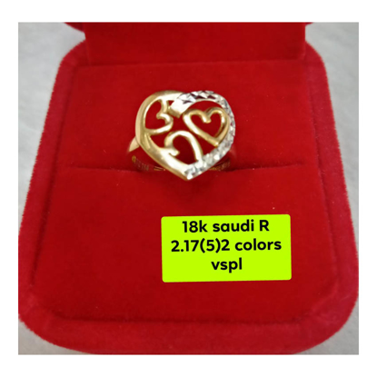 Picture of 18K - Saudi Gold Ring- SR2.17G(5)