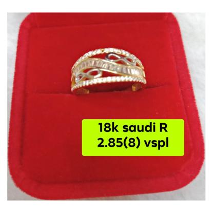 Picture of 18K - Saudi Gold Ring- SR2.85G(8)
