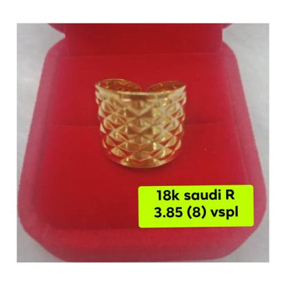 Picture of 18K - Saudi Gold Ring- SR3.85G(8)