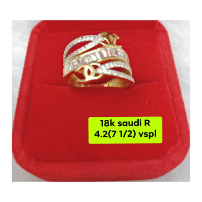 Picture of 18K - Saudi Gold Ring- SR4.2G(7.5)