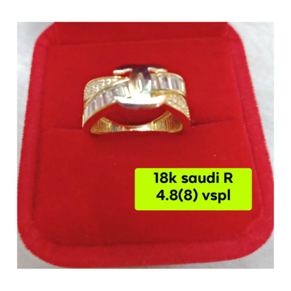 Picture of 18K - Saudi Gold Ring- SR4.8G(8)