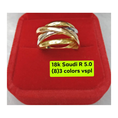 Picture of 18K - Saudi Gold Ring- SR5.0G(8)